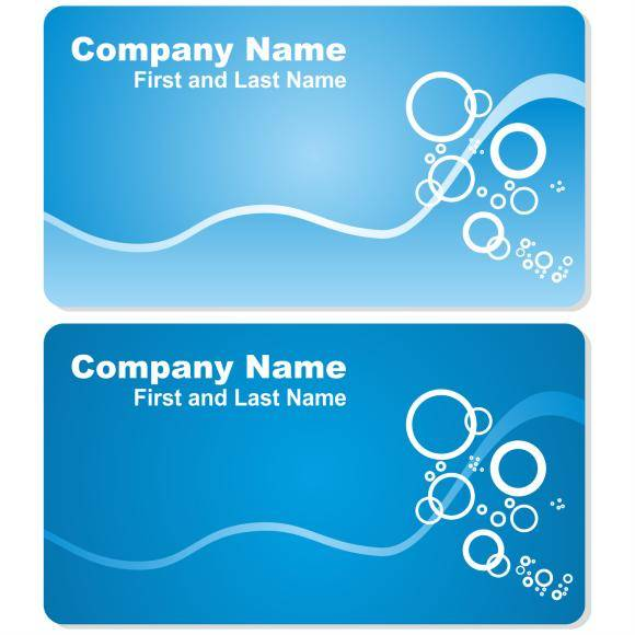 free vector Sea business card set