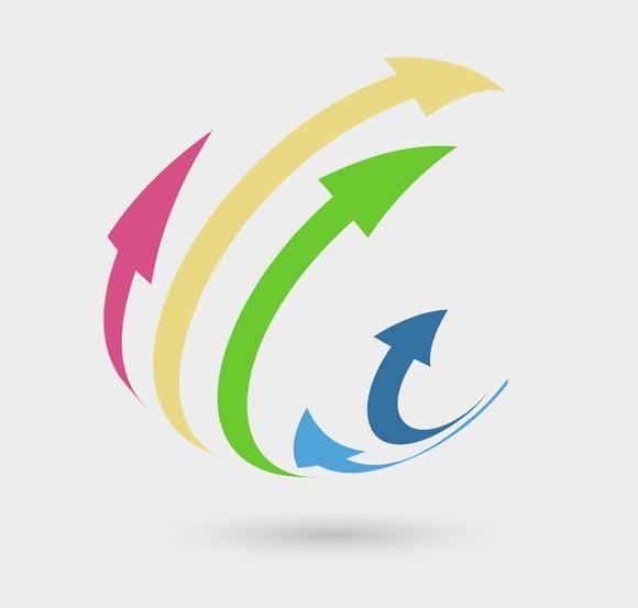 free vector 3D Arrows Logo Concept
