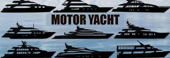 free vector Vector Motor Yacht