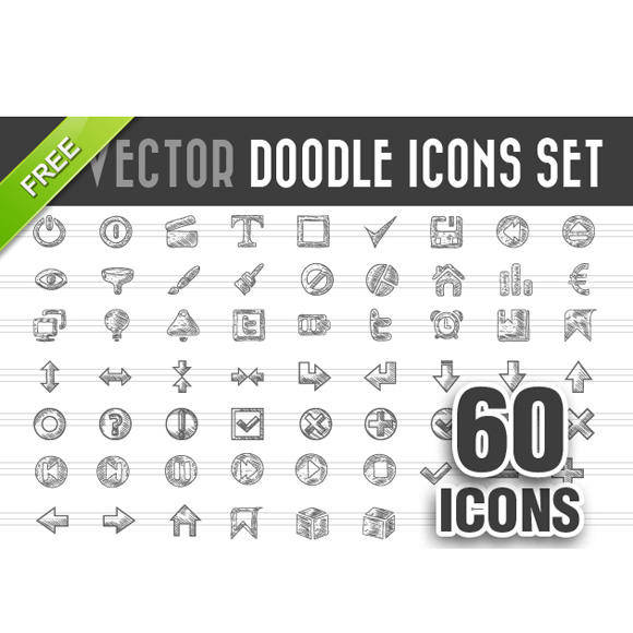 free vector Free Doodle Icons Vector Set