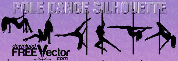 free vector Vector Pole Dance Silhouette