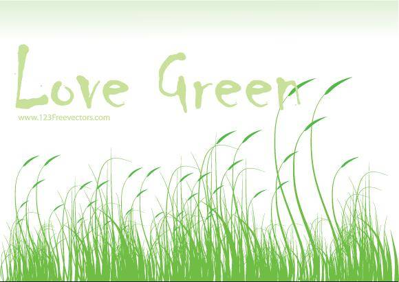 free vector Love Green Vector