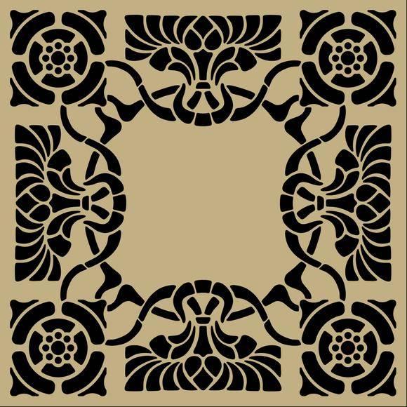 free vector Art nouveau stencil pattern