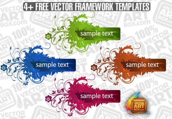 Useful Free Vector Flourish Framework Template