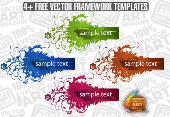 free vector Useful Free Vector Flourish Framework Template