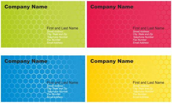 free vector Set of Business Card Designs
