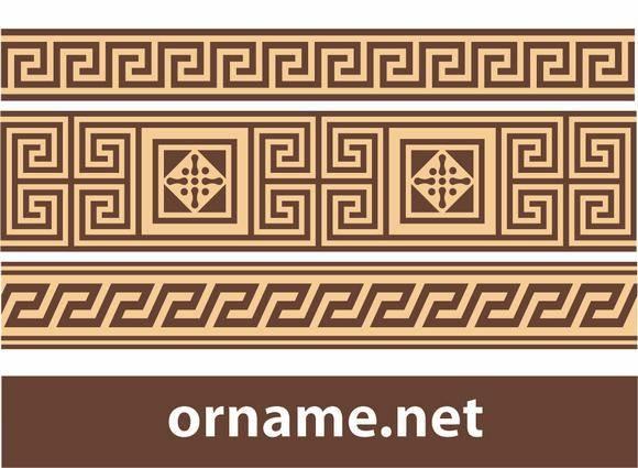 free vector Greek ornament – meander