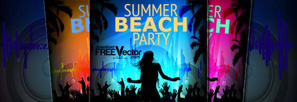 free vector Template Party Flyer