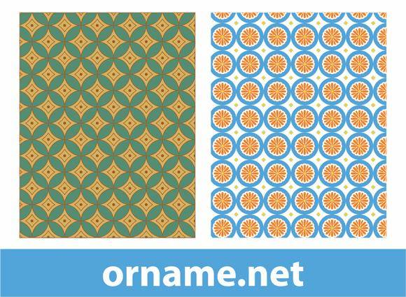 free vector Two Vector Egyptian Patterns