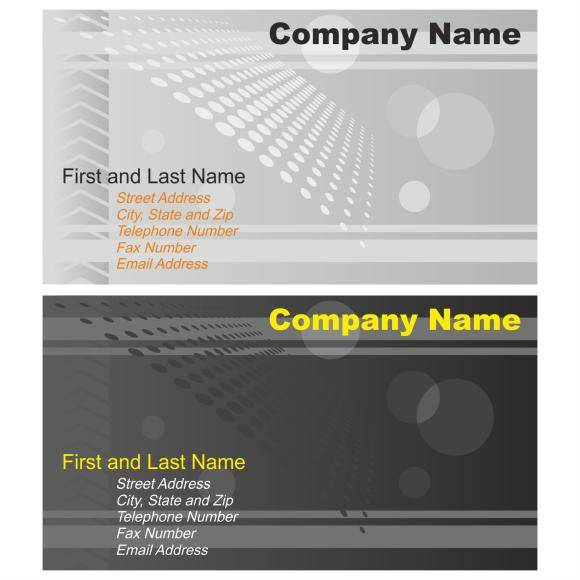 free vector Business card collection