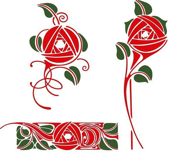 free vector Artistic rose designs
