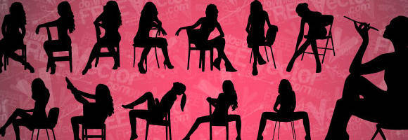 free vector Vector Sitting Girls