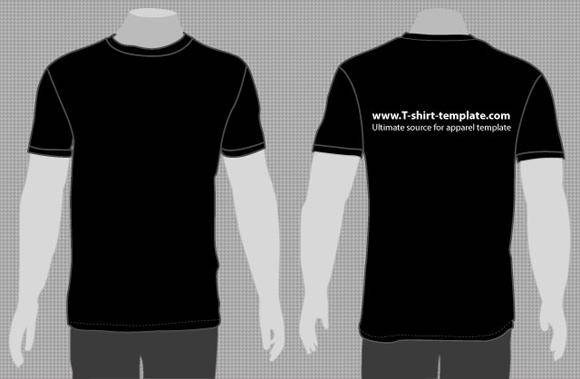 Free Vector Moder T-shirt Template Front & Back