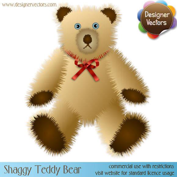Shaggy Teddy Bear