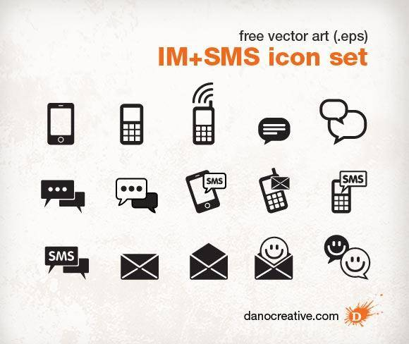 free vector Instant Messenger SMS Icon set