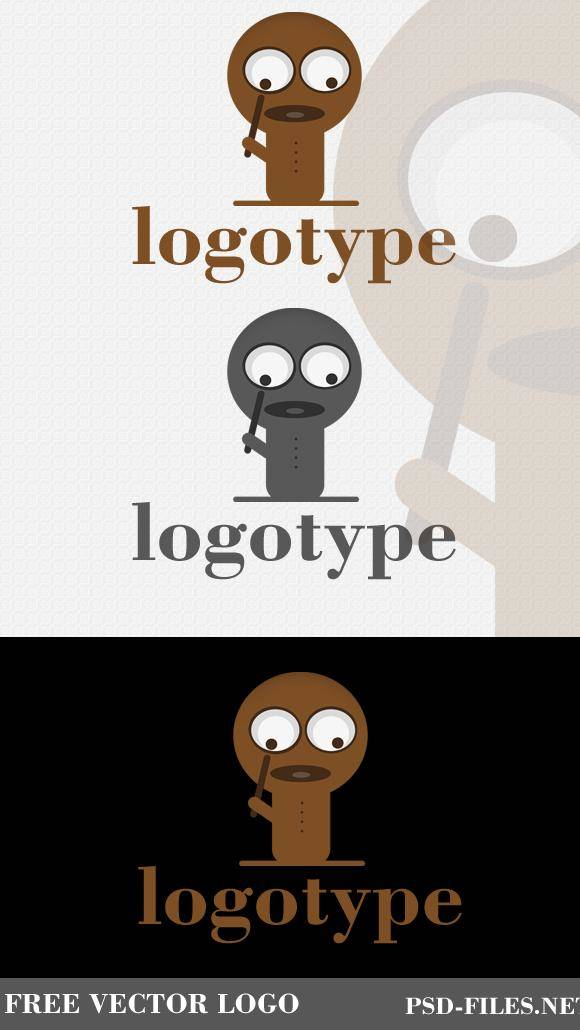 free vector Free Logo Magnifier Guy