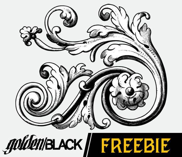 free vector Flourishes Vol. 2: Sample