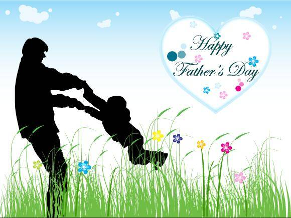free vector Happy Father's Day Vector