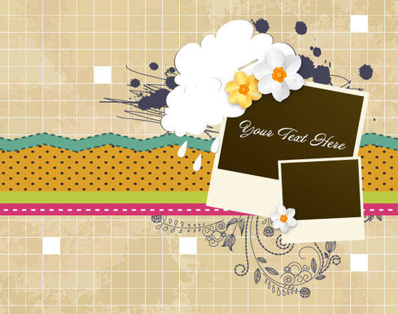 Scrapbook Vintage Vector Elements