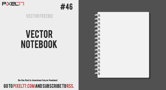 free vector Vector Notebook