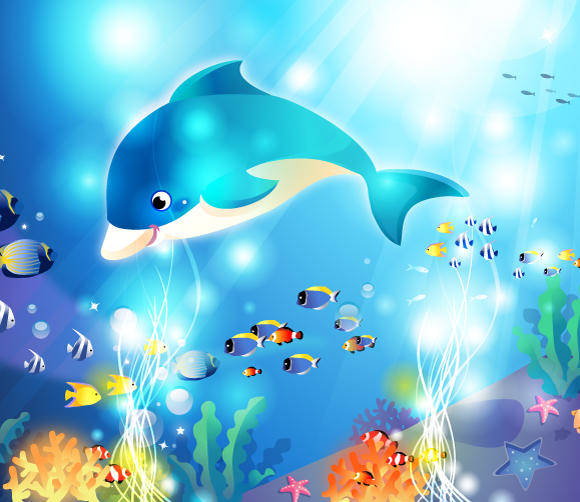 free vector Vector Underwater Artwork