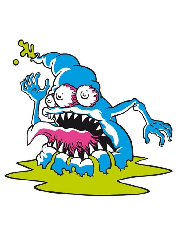 free vector Blue Monster