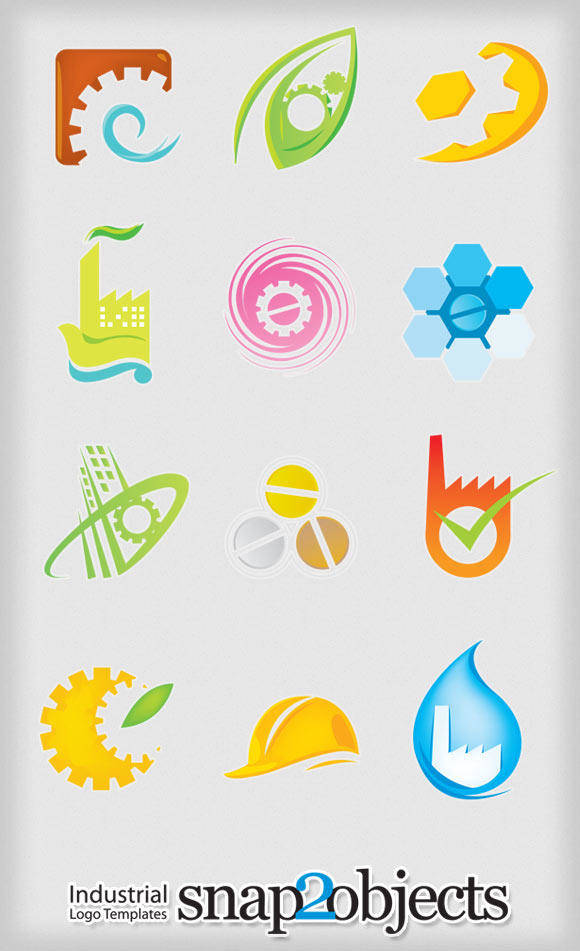 free vector Free Vector Industrial Logo Elements