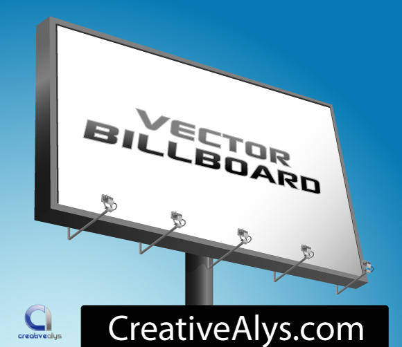free vector Advertising Billboard