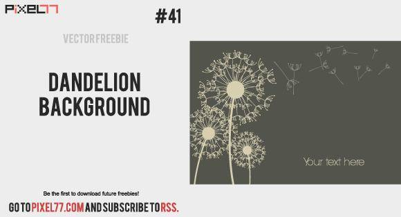 free vector Dandelion Background