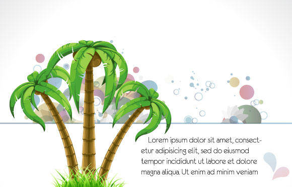 free vector Palm Tree Vector Background