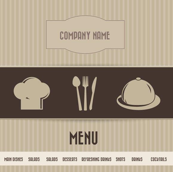free vector Restaurant Menu Vector