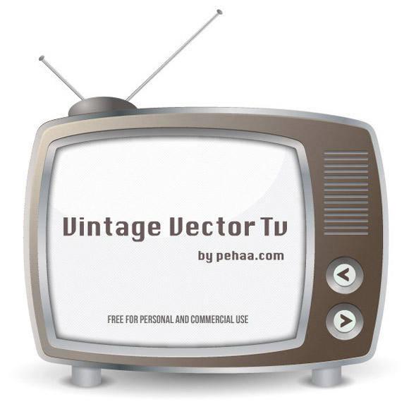 free vector Vintage vector TV