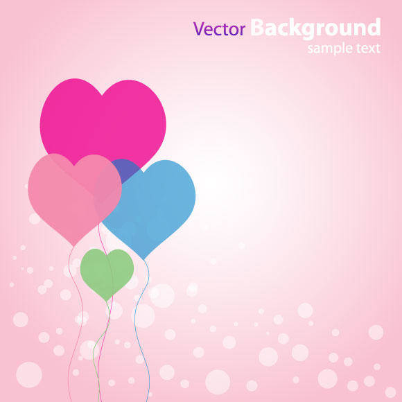 free vector Abstract Love Background