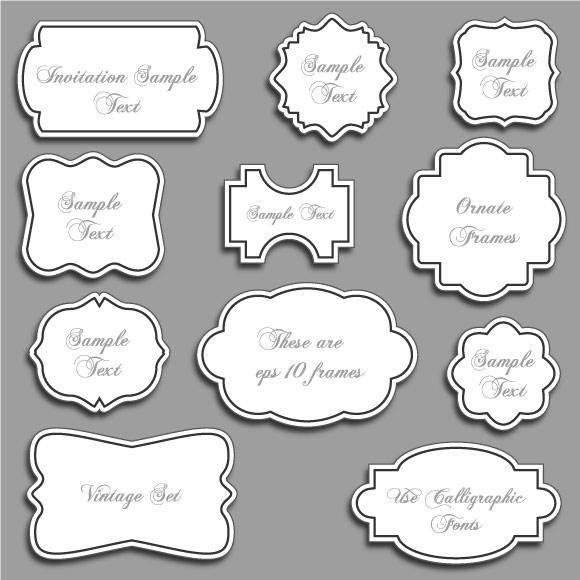 free vector Vintage Ornate Vector Frames