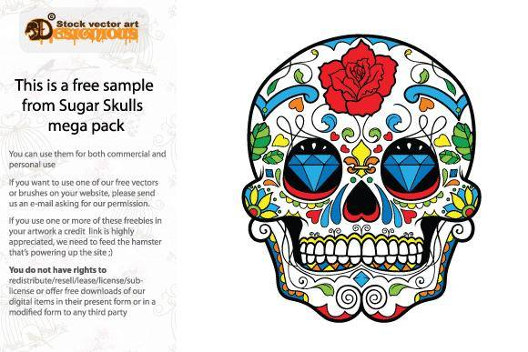 Free Colorful Skull Vector