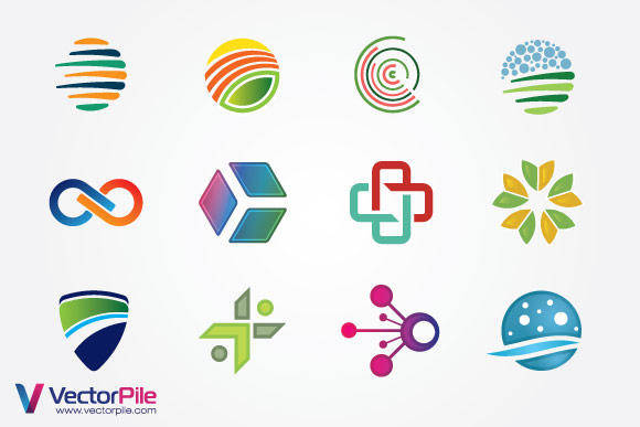 free vector Mixed Logo Vector Design Elements