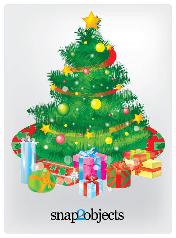 free vector Free Vector Christmas Tree and Gift Boxes