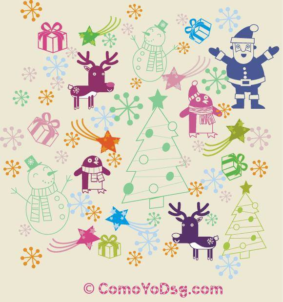 free vector Christmas Pattern