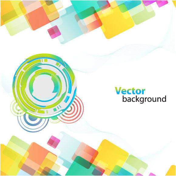 free vector Colorful Background With Different Shapes