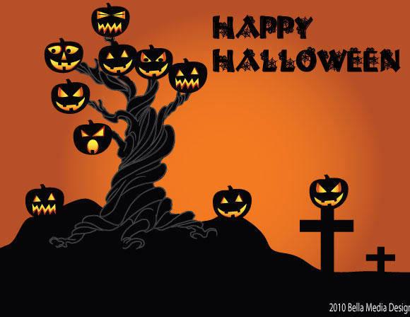 free vector Halloween Tree