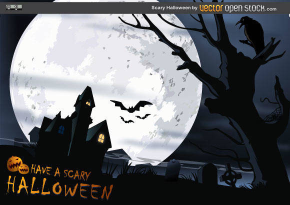 free vector Scary Halloween