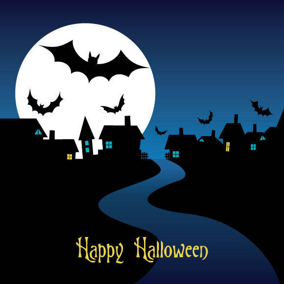 free vector Halloween Night Card Vector