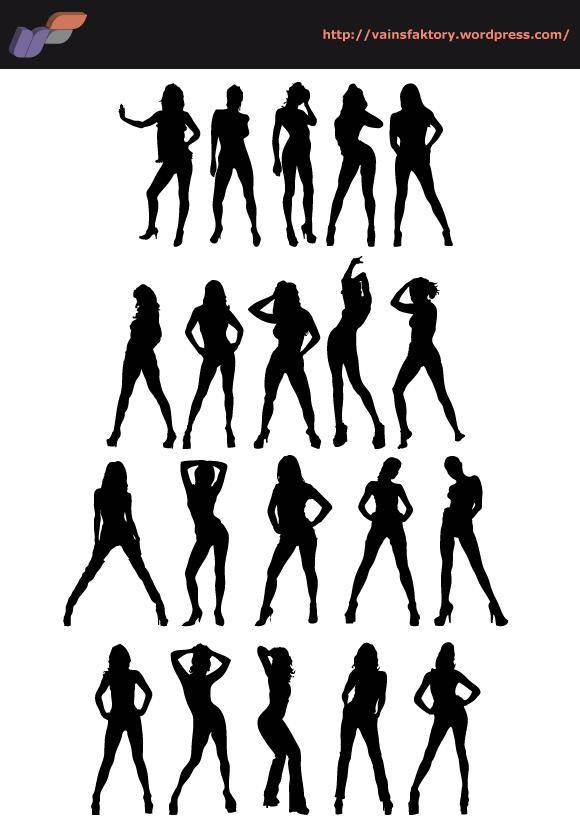 free vector Sexy Silhouettes