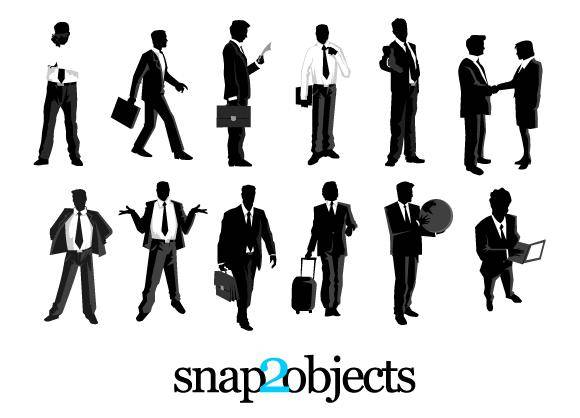 free vector 12 Free Vector Businessmen Silhouettes