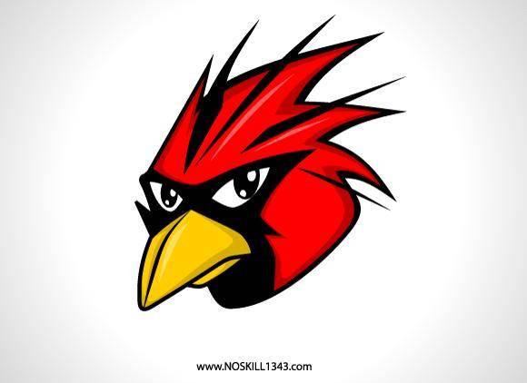 free vector Free Vector Red Bird Head