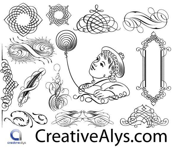 free vector Calligraphic Ornaments in Vector