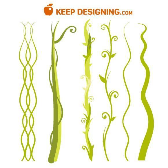 free vector Jungle Plant Vine Beanstalk
