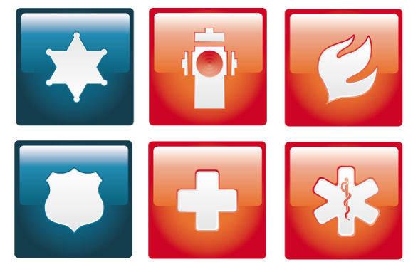 free vector Emergency Vector Icon Set