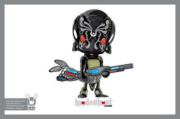 free vector Head Alien Characters 2