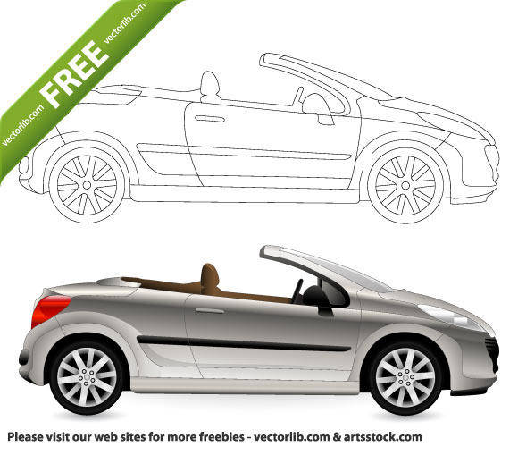 free vector Cabriolet Car Vector